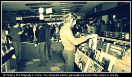 HMV Cool Old B&W with caption