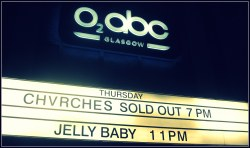 First of two sold out nights at the ABC for Chvrches