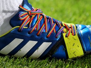 How high up the priority list for football clubs was the 'rainbow laces' campaign?