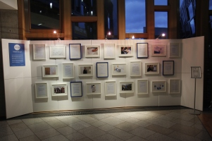 Cat curates a Dearest Scotland exhibition displayed in the Members' Lobby of the Scottish Parliament building in Oct 2015