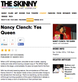 Review snippet of stand up comedian, Nancy Clench for The Skinny Mag, March 2014