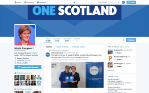 The First Minister retweets our post on the afternoon we presented her own personal book copy