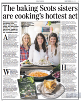 Scottish Sunday Express article covering the success and promising TV career of Three Sisters Bake, April 2014